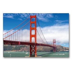Premium Textil-Leinwand 90 cm x 60 cm quer Golden Gate in San Fr