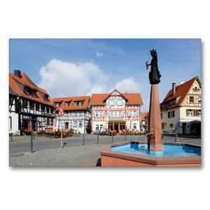 Premium Textil-Leinwand 90 cm x 60 cm quer Marktplatz