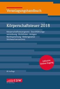 Veranlagungshandbuch Körperschaftsteuer 2018