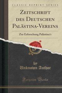 Zeitschrift des Deutschen Palästina-Vereins