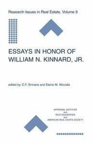 Essays in Honor of William N. Kinnard, Jr.