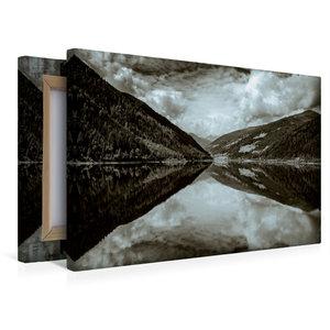 Premium Textil-Leinwand 45 cm x 30 cm quer Spiegelung im See