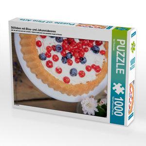Stillleben mit Blau- und Johannisbeeren 1000 Teile Puzzle hoch