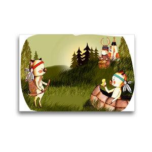 Premium Textil-Leinwand 45 cm x 30 cm quer Indianerschweinchen
