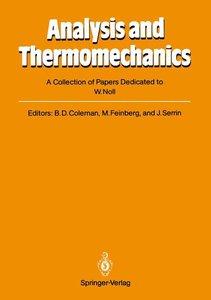 Analysis and Thermomechanics