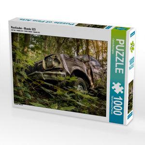Rostlaube - Mazda 323 1000 Teile Puzzle quer