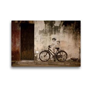 Premium Textil-Leinwand 45 cm x 30 cm quer Straßenkunst in Georg