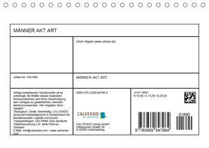 Männer AKT Art (Tischkalender 2019 DIN A5 quer)