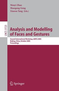 Analysis and Modelling of Faces and Gestures