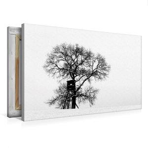 Premium Textil-Leinwand 75 cm x 50 cm quer Winterfarben