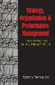 Strategy, Organizational Effectiveness and Performance Managemen
