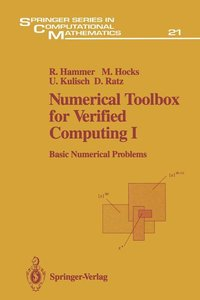 Numerical Toolbox for Verified Computing I