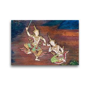 Premium Textil-Leinwand 45 cm x 30 cm quer Wat Phra Kaeo, Bangko