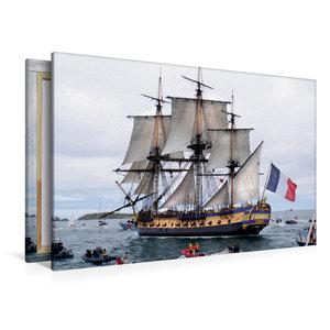 Premium Textil-Leinwand 120 cm x 80 cm quer Het fregat Hermione,