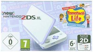 New Nintendo 2DS XL Weiß und Lavendel + Tomodachi Life, 1 Konsol