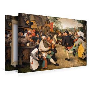 Premium Textil-Leinwand 45 cm x 30 cm quer Bauerntanz - 1568