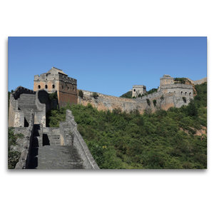 Premium Textil-Leinwand 120 cm x 80 cm quer Die Große Mauer bei