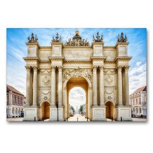 Premium Textil-Leinwand 90 cm x 60 cm quer Brandenburger Tor in