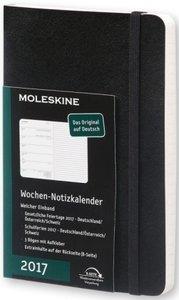 Moleskine Wochennotizkalender 2017 Deutsch P/A6, Soft Cover, Sch