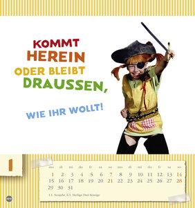 Pippi Langstrumpf Postkartenkalender 2018
