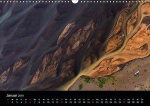 Vogelperspektive Island aus der Luft (Wandkalender 2019 DIN A3 q
