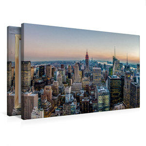 Premium Textil-Leinwand 75 cm x 50 cm quer Panorama vom Rockefel