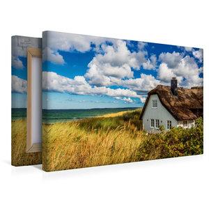 Premium Textil-Leinwand 45 cm x 30 cm quer Spätsommertag am Meer