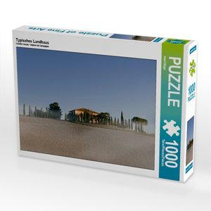 Typisches Landhaus 1000 Teile Puzzle quer