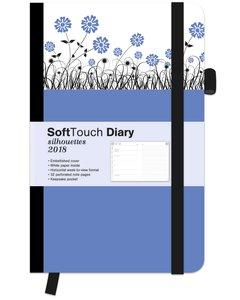 Soft Touch Silhouettes Dandelion 2018 Diary klein