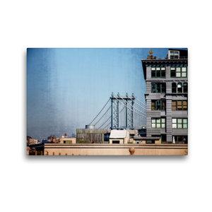 Premium Textil-Leinwand 45 cm x 30 cm quer Brooklyn Bridge 1