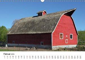 Red Barns - rote Scheunen (Wandkalender 2019 DIN A3 quer)