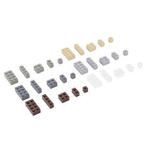Bausteine Mix Box 300 Teile in Architektur Farben in praktischer