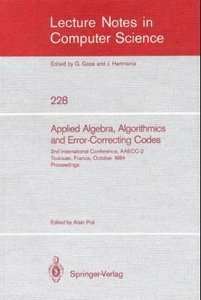 Applied Algebra, Algorithmics and Error-Correcting Codes