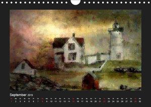 Leuchttürme bei Nacht (Wandkalender 2019 DIN A4 quer)