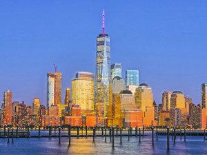CALVENDO Puzzle Blick von Jersey City über den Hudson River auf