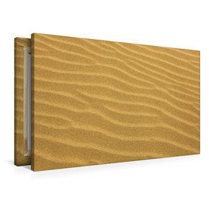 Premium Textil-Leinwand 90 cm x 60 cm quer Stille Sandidylle