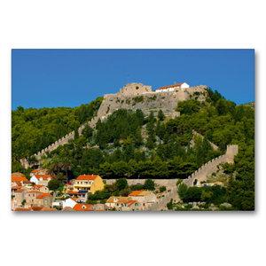Premium Textil-Leinwand 90 cm x 60 cm quer Hvar Castle