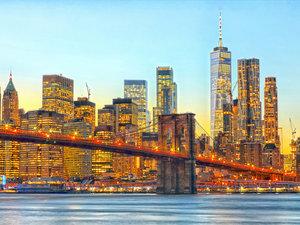CALVENDO Puzzle Brooklyn Bridge, East River und Skyline von Down