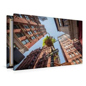 Premium Textil-Leinwand 120 cm x 80 cm quer One Way - New York