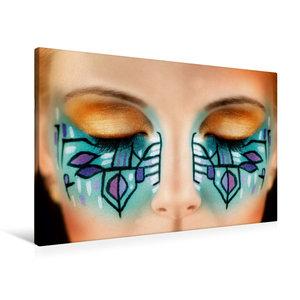 Premium Textil-Leinwand 90 cm x 60 cm quer Kreatives Make-Up