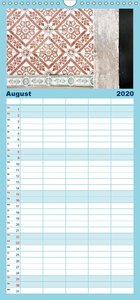 Lissabons Azulejos - Familienplaner hoch (Wandkalender 2020 , 21