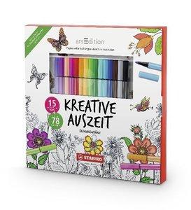 STABILO Kreative Auszeit - Frühlingsgefühle (Malbuch + 15 Stifte
