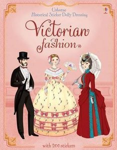 Historical Sticker Dolly Dressing Victorian Fashion