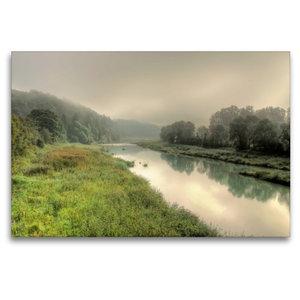 Premium Textil-Leinwand 120 cm x 80 cm quer Der Nebel senkt sich