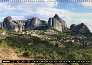 Metéora Monasteries between Heaven and Earth / UK-Version (Wall