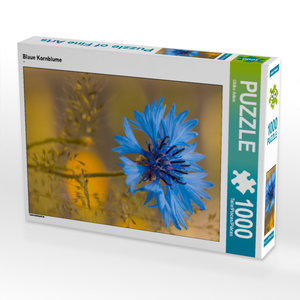 CALVENDO Puzzle Blaue Kornblume 1000 Teile Lege-Größe 48 x 64 cm