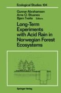 Long-Term Experiments with Acid Rain in Norwegian Forest Ecosyst