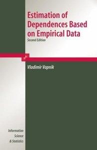 Estimation of Dependences Based on Empirical Data