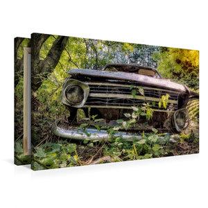 Premium Textil-Leinwand 90 cm x 60 cm quer Rostlaube Opel Kadett