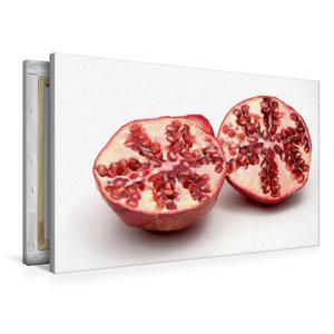 Premium Textil-Leinwand 90 cm x 60 cm quer Granatapfel